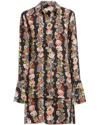 Equipment - Daphne Botanical Print Dress In True Black Multi - Lyst