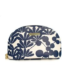 Trina Turk Bali Blossom Cosmetic Case - Blue