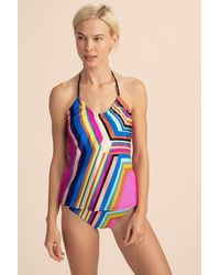 Trina Turk Illusions Stripe Tankini - Blue