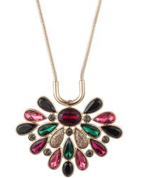 Trina Turk - Another Round Floral Stone Burst Pendant - Lyst