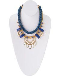 Trina Turk 16in Adj Pendant On Cord Necklace - Metallic
