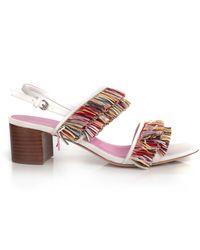 Trina Turk Mambo Raffia Sandal - Pink