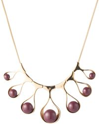 Trina Turk Wavy Teardrop Collar Necklace - Metallic