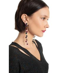 Kenneth Jay Lane Multi Color Drop Earring - Silver Gray / O/s