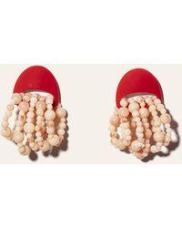 Lele Sadoughi Jellyfish Pearl Earring - Pink