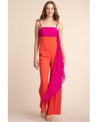 Trina Turk Semi Precious Jumpsuit - Pink