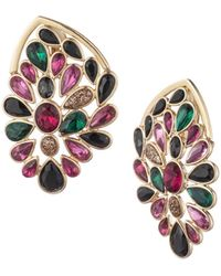Trina Turk Another Round Stone Cluster Statement Stud Earring - Multicolor