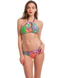 6d1307bbb218c Trina Turk Tropical Escape Triangle Bikini Top - Lyst