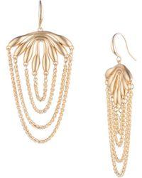 Trina Turk - Retro Botanics Drape Chain Earring - Lyst