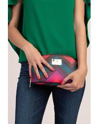 Trina Turk Chevron Cosmetic Case - Multi / O/s - Green