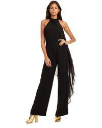 Trina Turk Wayfarer Drape Jumpsuit - Black