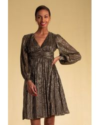 Trina Turk Cherry Blossom Dress - Black/gold / 10