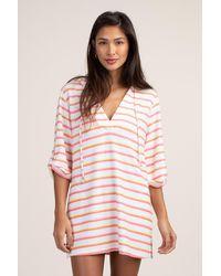 Trina Turk Costa De Prata Hooded Tunic - Pink