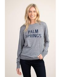 Mr Turk Palm Springs Crew Neck - Gray