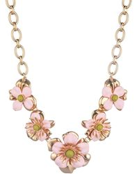 Trina Turk Super Bloom Flower Necklace - Pink