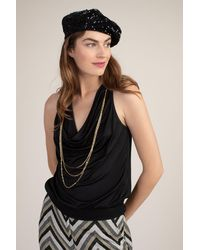 Trina Turk Sequin Beret - Black / O/s