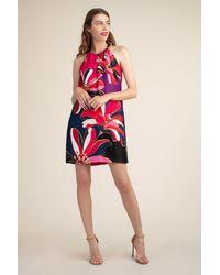 Trina Turk Midi Roe Dress - Red