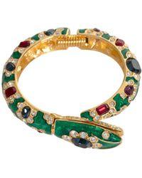 Trina Turk - Green Snake Bracelet - Lyst