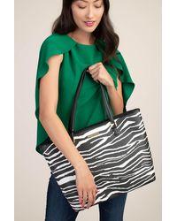 Trina Turk Zebra Saffiano Tote - Multi / O/s - Green