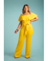 Trina Turk Guests Jumpsuit - Yellow