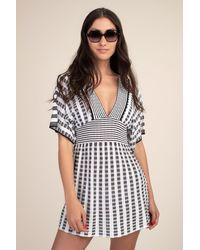 Trina Turk Stripe Covers Tunic - Black