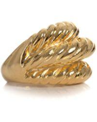 Kenneth Jay Lane - Rib Twist Ring - Gold / O/s - Lyst
