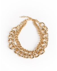 Kenneth Jay Lane Kjl Links Double Chain Necklace - Metallic