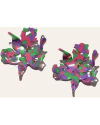 Lele Sadoughi Small Paper Lily Earrings - Multicolour