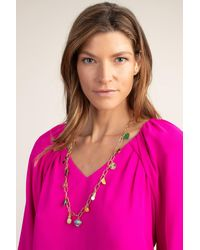 Trina Turk Long Signature Trina Charm Neck - Metallic