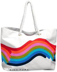 Trina Turk Rainbow Tote - White / O/s
