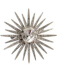 Trina Turk Crystal Starburst Pin - Multicolor