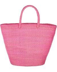 Artesano Crete Large Straw Tote - Pink