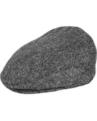 Triona Design Gray Herringbone Donegal Tweed Flat Cap