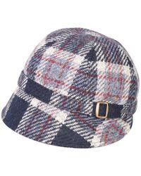 Triona Design Donegal Tweed Flapper Cap - Blue