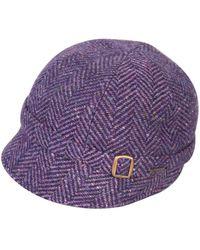 Triona Design Donegal Tweed Flapper Cap - Purple