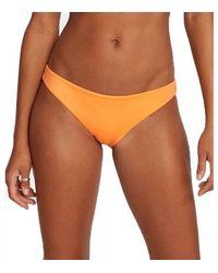 RVCA Braguita bikini tamaño medio sólido Orange Crush - Naranja