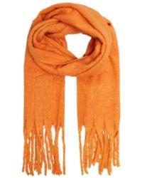 SELECTED Echarpe Tally En Orange Kaki