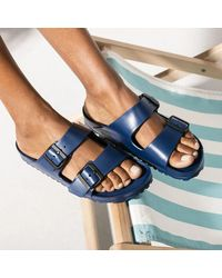 Birkenstock Navy Eva Arizona Sandal - Blue