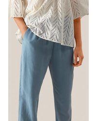 Second Female Pantalones Nukan Mw de denim desteñido - Azul