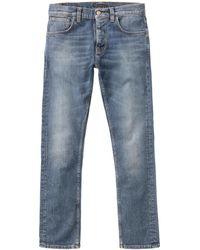 Nudie Jeans Grim Tim Pale Shelter Jeans - Blue