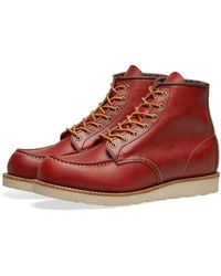 "Red Wing 8131 Heritage Work 6"" Moc Toe Boot - Red"