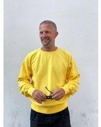 Edwin Raglan-sleeve Crewneck Maruva Kiku Dye + Ozone - Multicolor