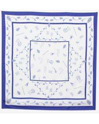 Baum und Pferdgarten Lexine Silk Scarf White Tattoo - Azul