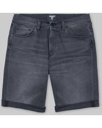 Carhartt Swell Short Black Shore blanqueado - Multicolor