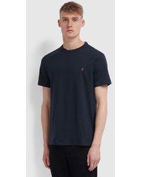 Farah Danny Organic Cotton T Shirt Navy - Blue