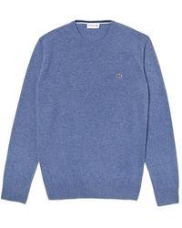 Lacoste Jersey di lana girocollo lavorato a maglia Ah 0841 Alby Blue
