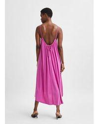 SELECTED Robe Midi A Bretelles Asymétriques Finia Rose