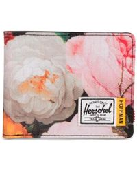 Herschel Supply Co. Fabric Roy Rfid Fall Floral Cartridge Wallet - Pink