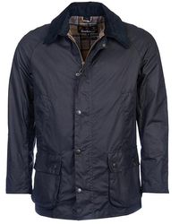 Barbour Ashby Wax Jacket Navy - Blau