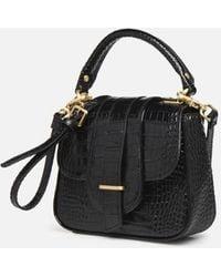 Essentiel Antwerp Small Black Trinny Leather Handbag